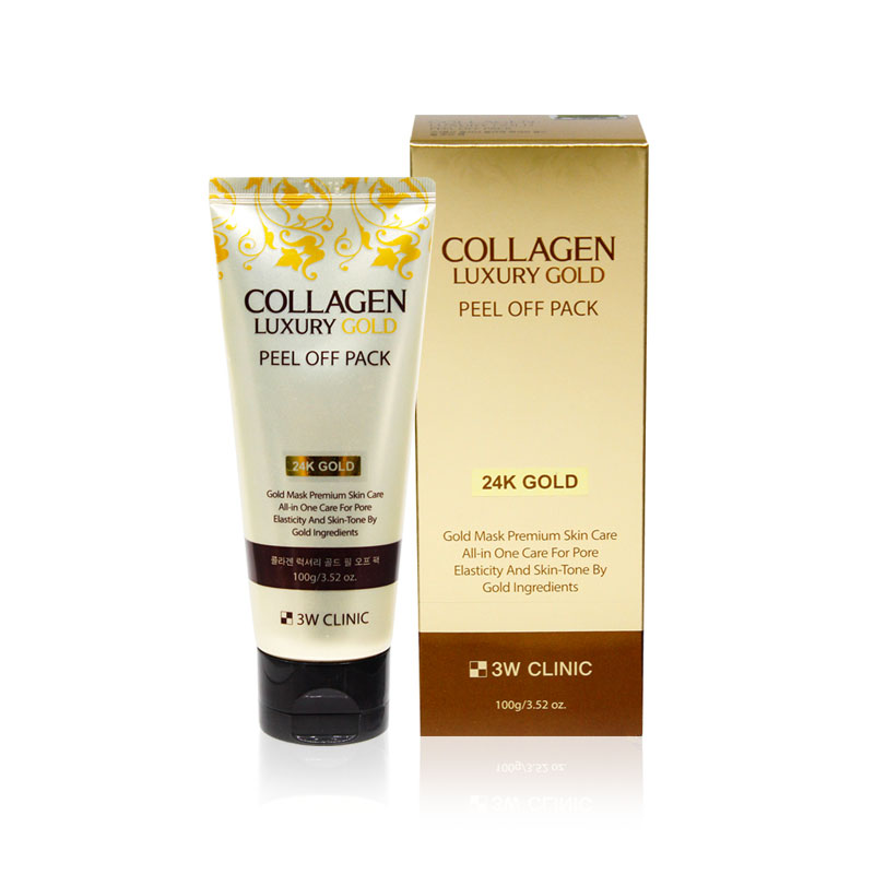 3W CLINIC Золотая маска-плёнка с коллагеном Collagen Luxury Gold Peel Off Pack